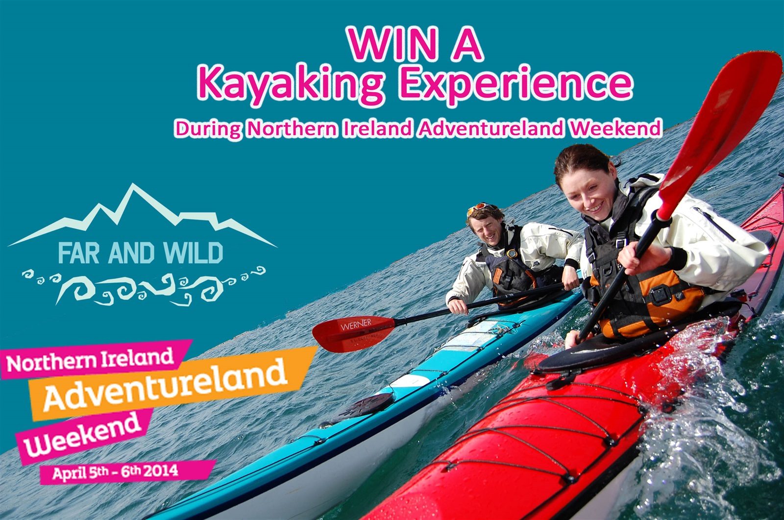 Win a Kayaking Experience during Northern Ireland Adventureland Weekend!